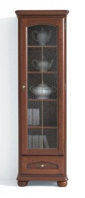 vitrína BAWARIA DWIT 1dP sklo SAHARA ořech