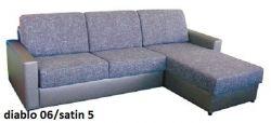 černá rohová sedací souprava na každodenní spaní LENETA 160 LP