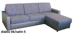 béžová rohová sedací souprava na každodenní spaní LENETA 160 LP