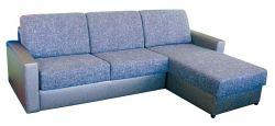 Rohová sedací souprava na každodenní spaní LENETA 160 šedá