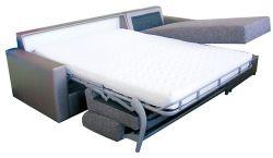 Rohová sedací souprava na každodenní spaní LENETA 160 šedá MB