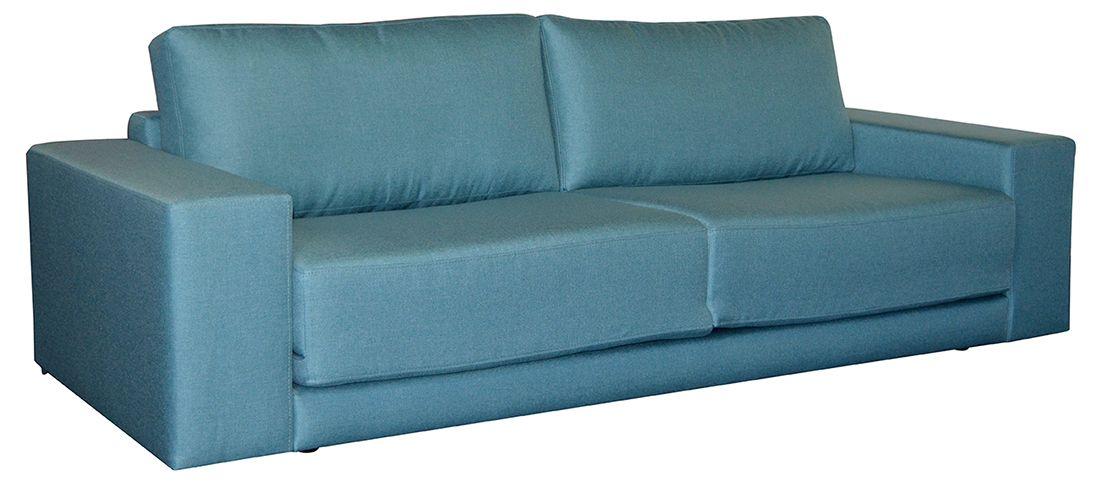Modrá rozkládací pohovka NORIKA MB