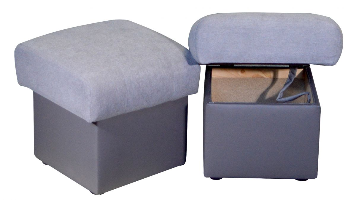 šedý taburet