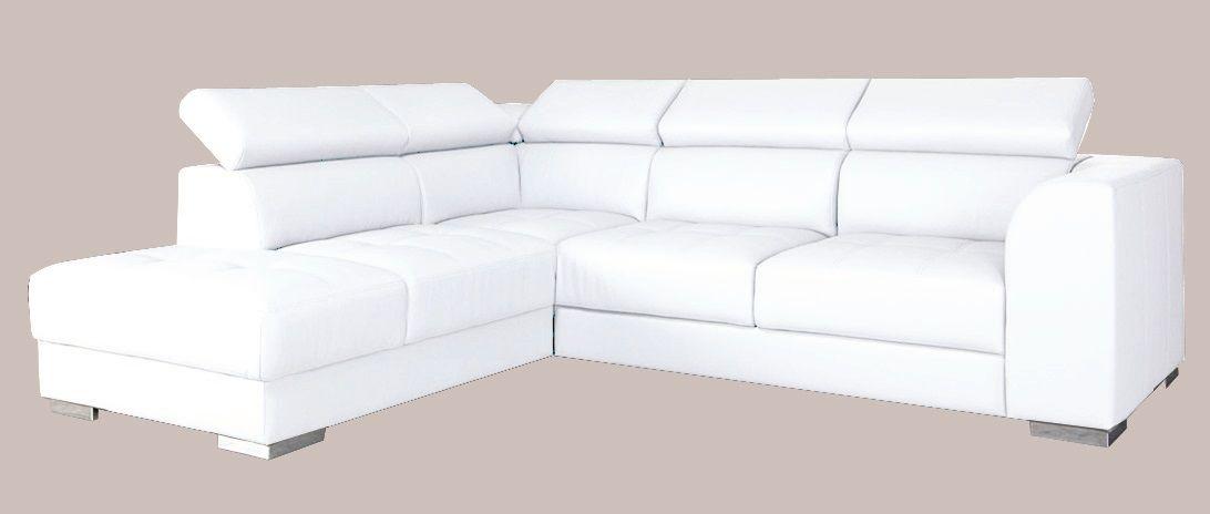 bílá rohová sedací souprava POLINA LP