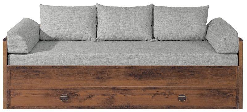 postel INDIANA JLOZ80/160 komplet dub (korpus,matrace, 2 záhlavky,3 polštáře)