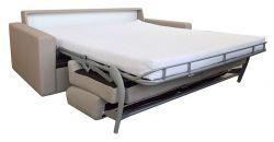 pohovka na každodenní spaní černá/bílá TOP