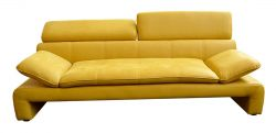 žlutá pohovka trojsed DALIANA