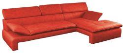 červená rohová sedací souprava DALIANA