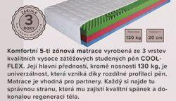 Lux  - Vario šedé dvoulůžko Sara
