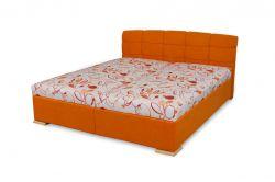 oranžové dvoulůžko Vilma