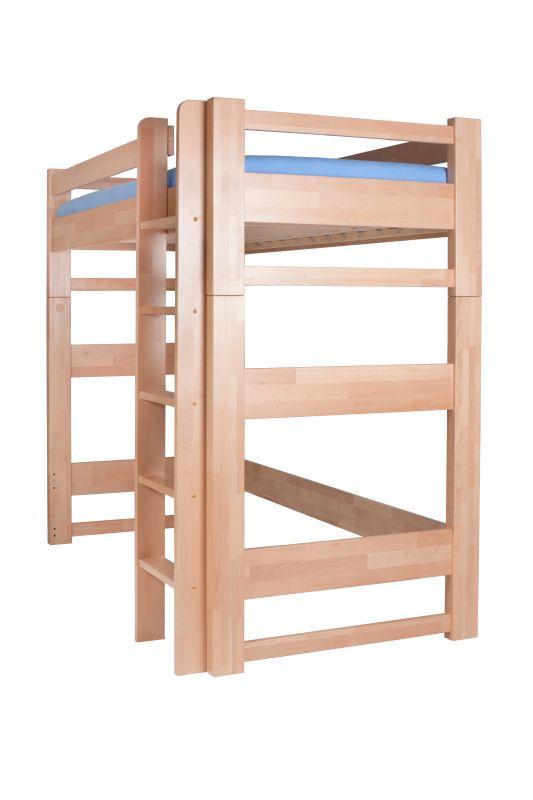 bukové jednolůžko s horním spaním Lucas HP