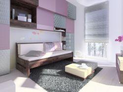 rozkládací smrková postel Arleta