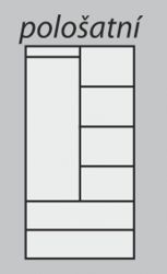 pološatní skříň Alfa 2D praktik buk HP