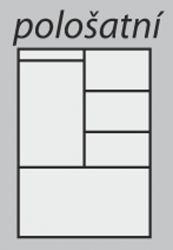 pološatní skříň Beta 2D grand buk HP