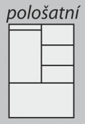 pološatní skříň Beta 2D praktik buk HP
