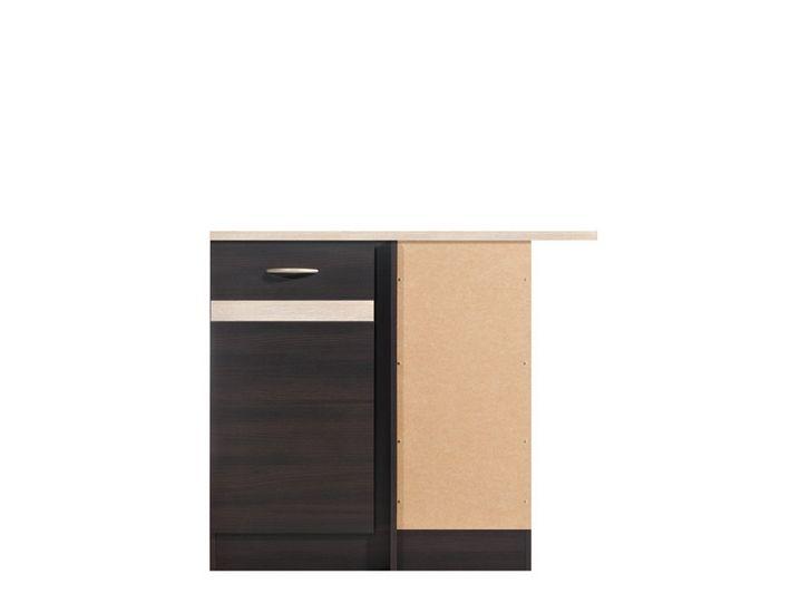 skříňka rohová JUNONA DNW/100/82 P wenge/dveře wenge ( prac. deska dub sonoma )
