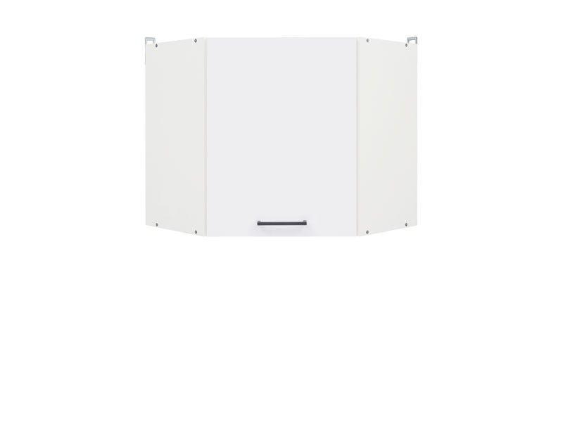 skříňka rohová JUNONA GNWU/57 LP bílá/bílý lesk