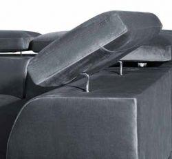 černá rohová sedací souprava PARIS MB