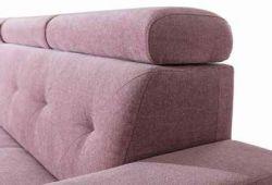 růžová rohová sedací souprava LP