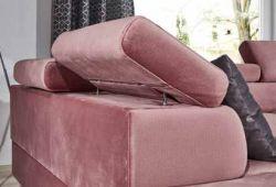 růžová rohová sedací souprava MB