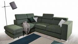 zelená rohová sedací souprava MB