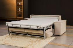 béžová pohovka na každodenní spaní DREAM 120