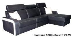 modrá rohová sedací souprava na každodenní spaní DESTINE 140 LP