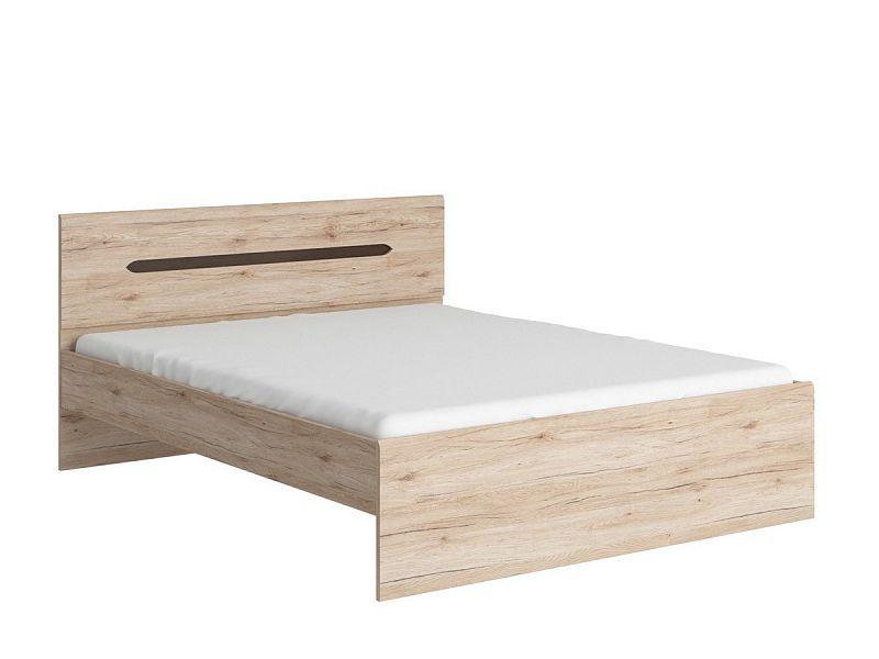 postel ELPASSO LOZ/160 dub san remo světlý BEZ ROŠTU