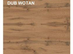 Regál HOLTEN REG3S, dub wotan/bílý lesk