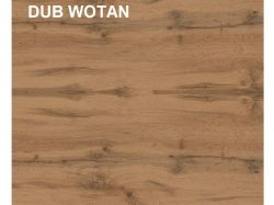 Skříň HOLTEN SZF2D1S, dub wotan/bílý lesk