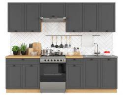 kuchyně SEMI LINE komplet 260 cm grafit 4