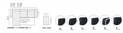 rohová sedací souprava pro každodenní spaní DESTINE 120 šedá/krémová MB