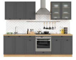 šedivá kuchyňská linka SEMI LINE komplet 260 cm grafit