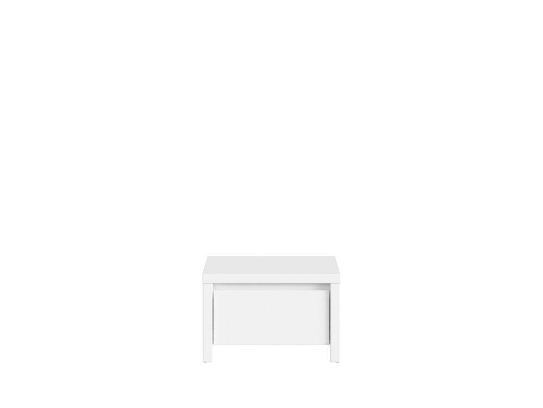 noční stolek KASPIAN KOM1S bílá/bílá matná