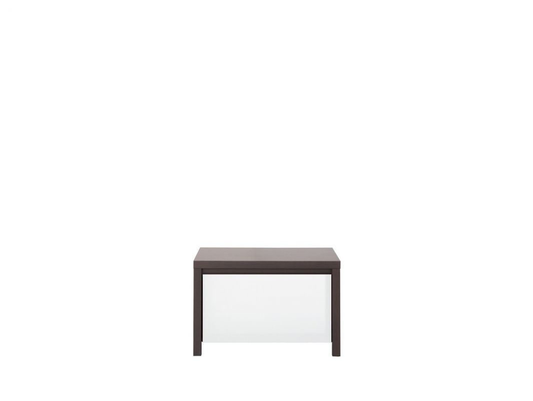 noční stolek KASPIAN KOM1S wenge/bílý vysoký lesk