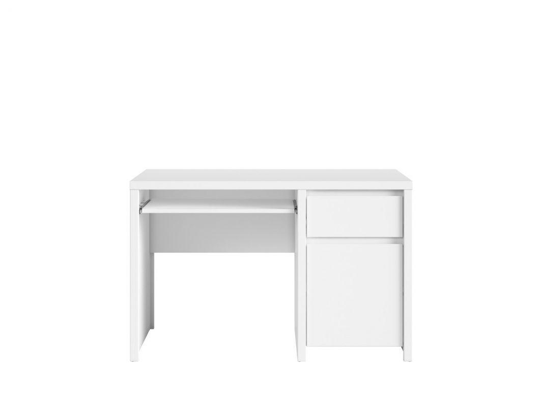 psací stůl KASPIAN BIU1D1S/120 bílá/bílá matná