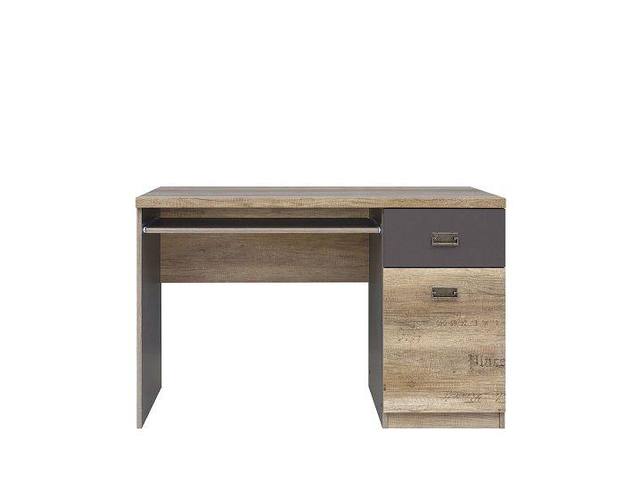 psací stůl MALCOLM BIU1D1S dub canyon monument s potiskem 3D/šedý wolfram