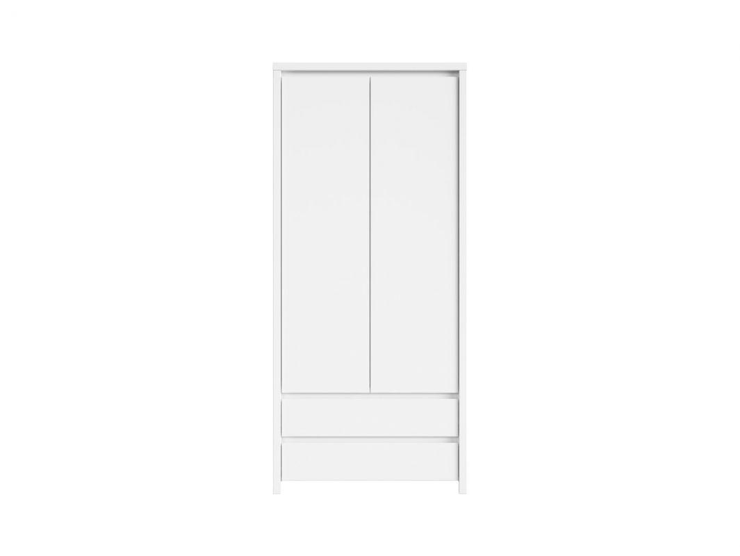 skříň KASPIAN SZF2D2S bílá/bílá matná