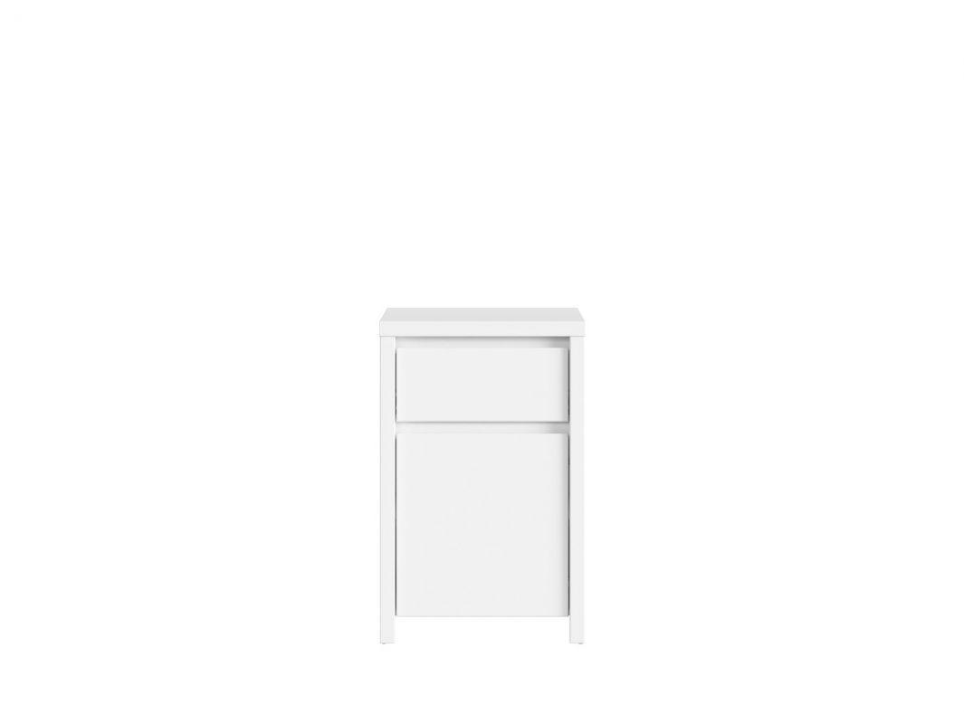 skříňka KASPIAN KOM1D1SP bílá/bílá matná