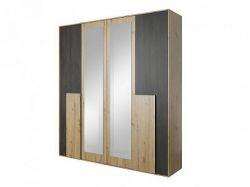 Bergamo BA21 šatní skříň, dub artisan/borovice černá norská