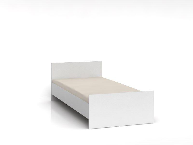 postel NEPO LOZ/90 bílá BEZ ROŠTU