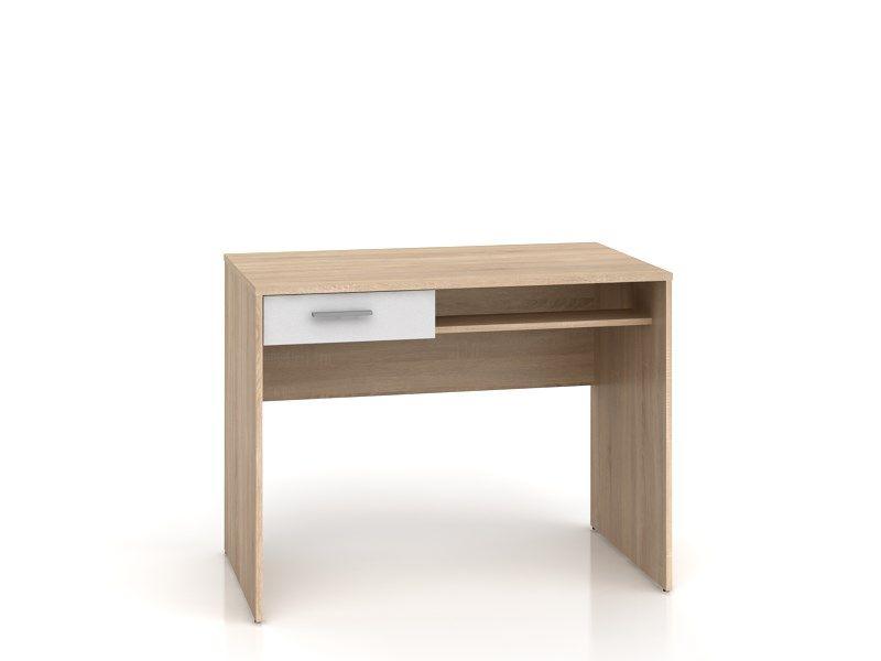 psací stůl NEPO BIU1S dub sonoma/bílá