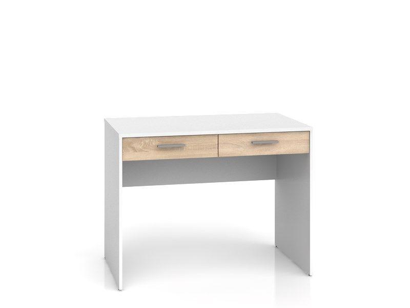 psací stůl NEPO BIU2S bílá/dub sonoma