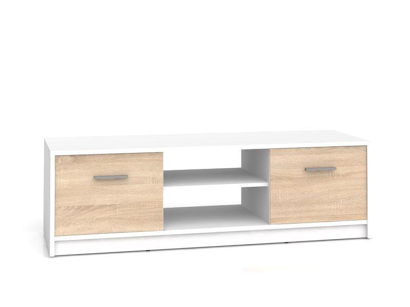 televizní stolek NEPO RTV2D bílá/dub sonoma