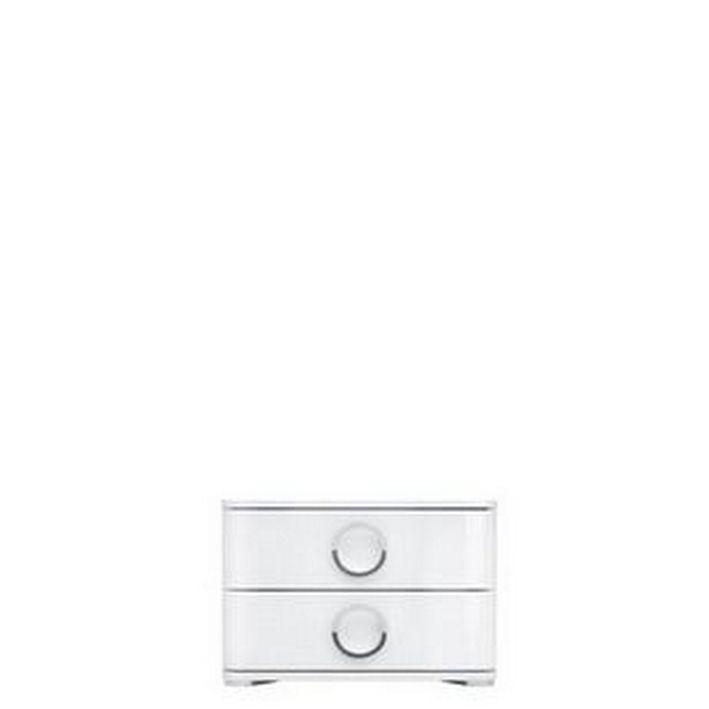 noční stolek lož.ROKSANA II KOM2S 4/5 bílý lesk