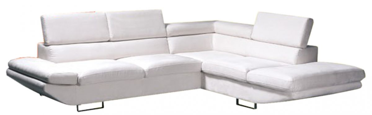 bílá rohová sedací souprava MALVINA LP