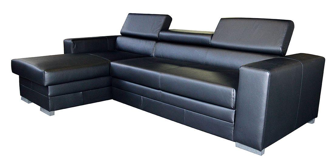 Rohová sedací souprava MADELINA černá LP