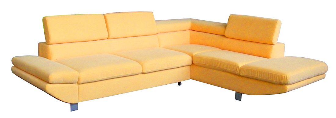 Rohová sedací souprava MALVINA žlutá LP