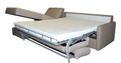 béžová rohová sedací souprava na každodenní spaní LENETA 120 LP